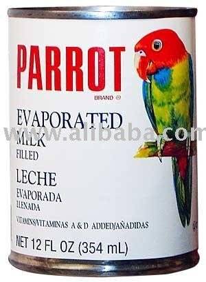 12 fl. oz. Parrot Evaporated Milk Filled