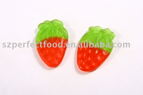 Strawberry shape Gummy Candy