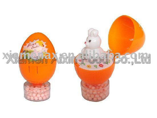 Animal in egg toy candy