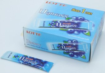 Lotte Stick Gum Blueberry 1