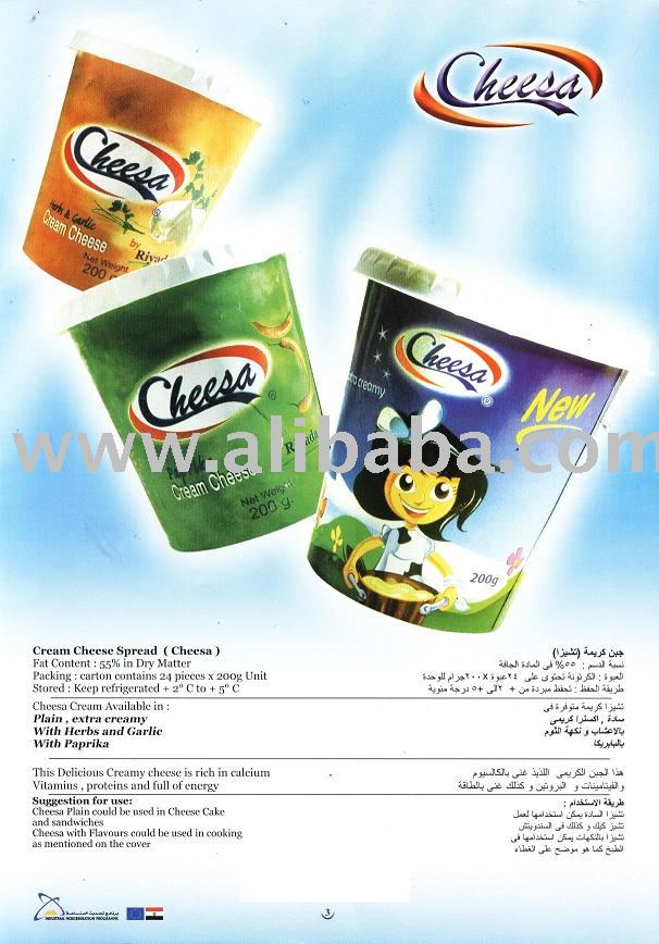 CREAM CHEESE SPREAD   CHEESA