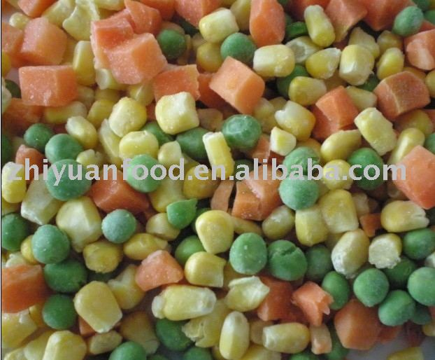 Frozen Mixed Vegetables (IQF,carrot,green pea,sweet corn)