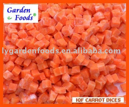 frozen carrot dices 2011 new crops
