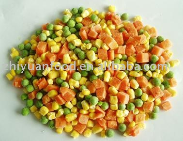 Frozen mixed vegetables (IQF,carrot dices,green pea,sweet corns)