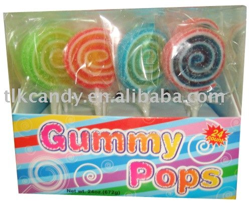 Rainbow Jelly Lollipops Candy