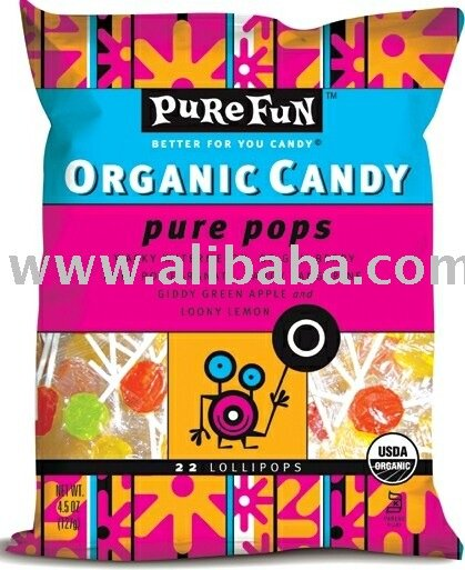 CERTIFIED ORGANIC LOLLIPOPS KOSHER VEGAN GLUTEN FREE CANDY