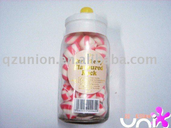 Strawberry hard candy (Glass Jars)