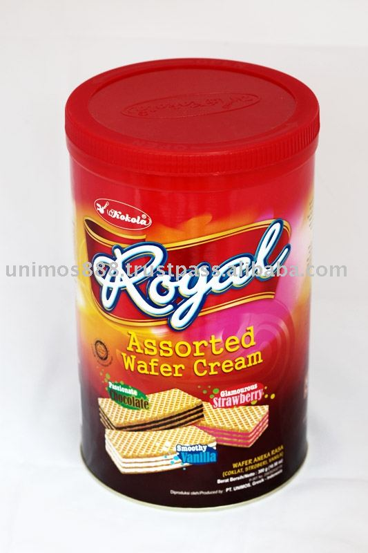 Kokola Royal Assorted wafer cream 300g