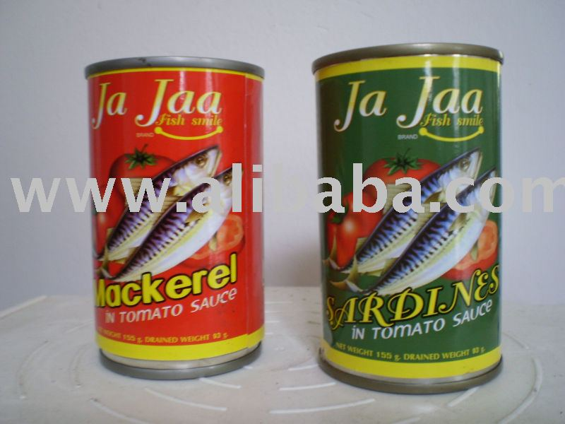 Canned Mackerel/Sardines/Tuna in tomato sauce Ja Jaa brand
