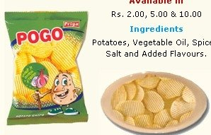 POGO : Sour & Onion Cream Chips