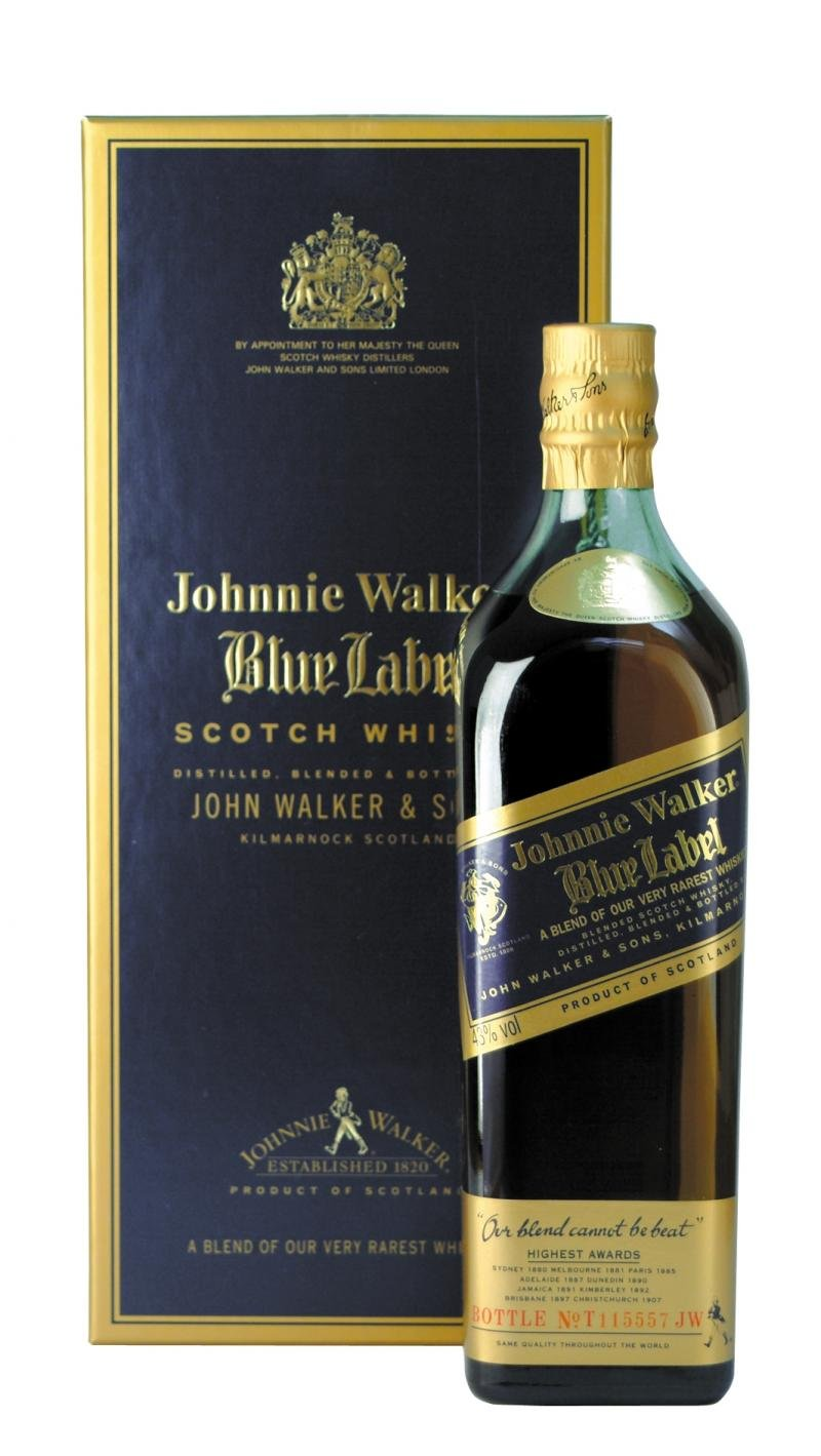 JW Blue Label whisky