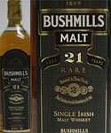 Bushmills 21 Year Old Rare Irish Whiskey