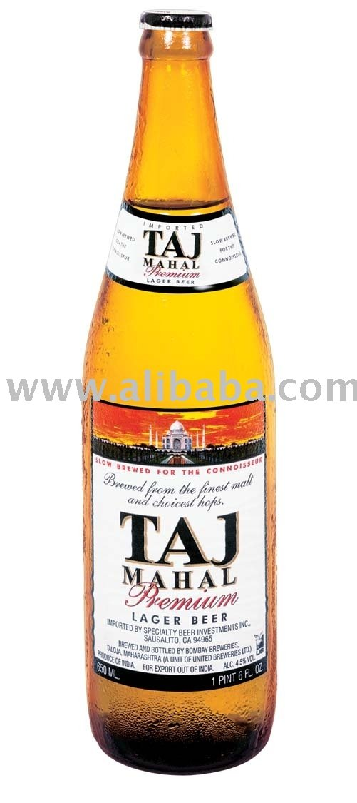 Taj Mahal Premium Lager Beer 650 Ml Bottle Beer