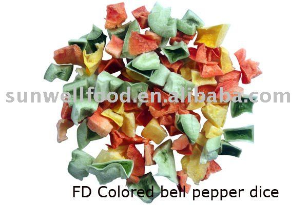 FD colored bell pepper dice