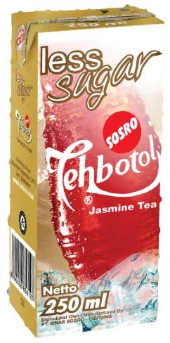 Teh Botol Sosro Less Sugar