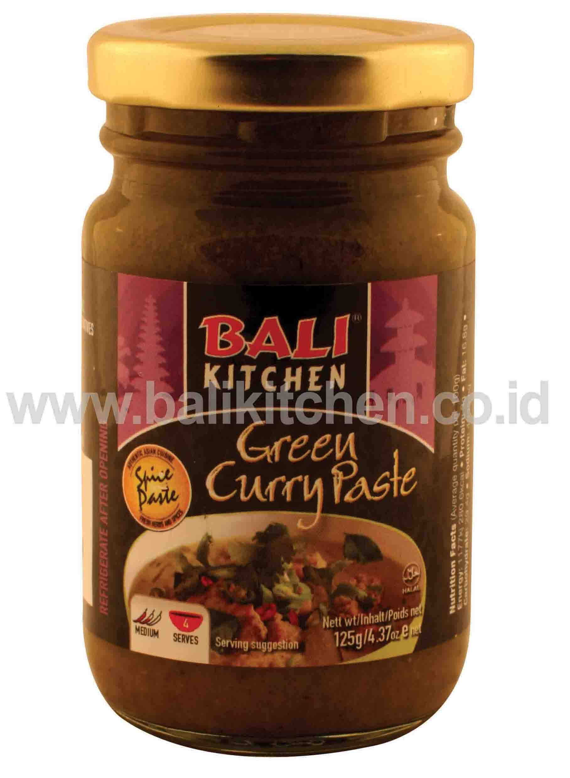 GREEN CURRY PASTE 125G