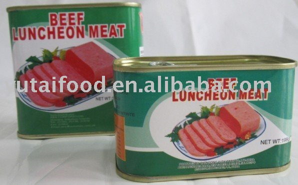 Canned Meat: Beef Luncheon Meat