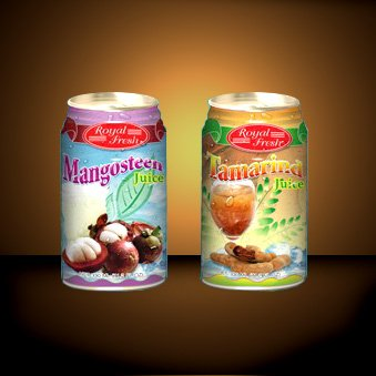 Canned Mangosteen Juice 350 Ml.
