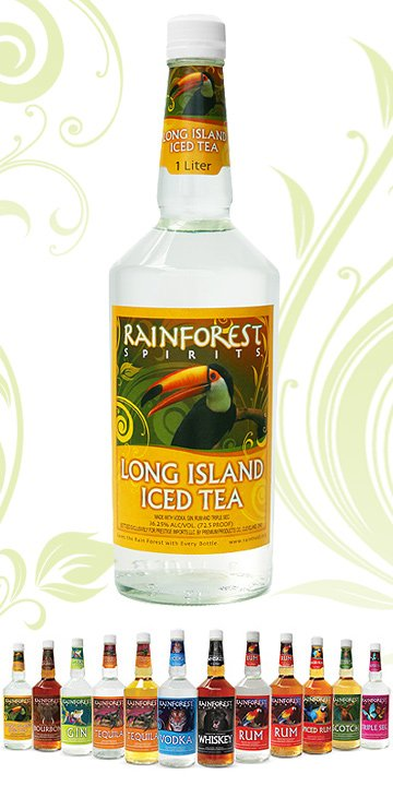 rainforest long island iced tea alcohol mix products