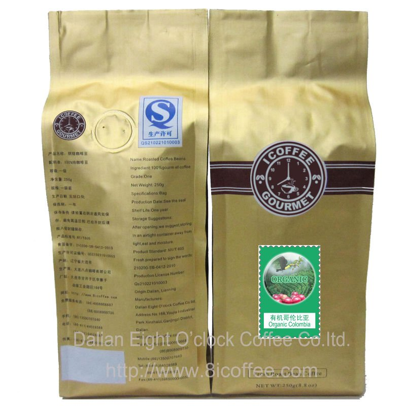 Coffee Bean/Organic Colombian Arabica Roasted