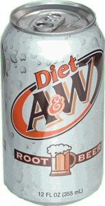 Diet A & W Root Beer drink