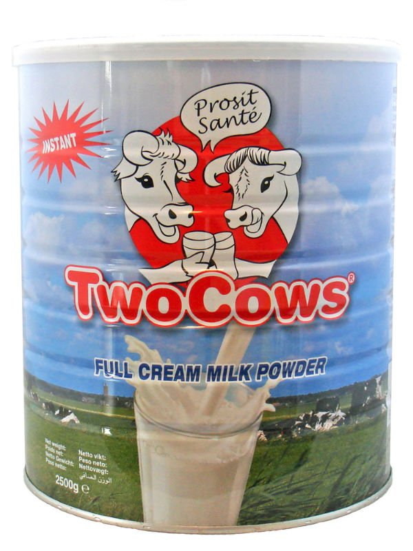 "Instant Full Cream Milk Powder ""Two Cows"" Brand"