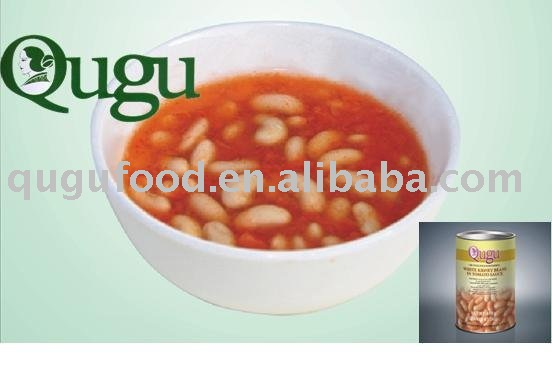 canned white kidney beans with tomato sauce
