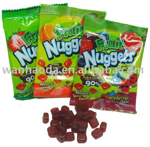 28g Fruit Nuggets Pectin Gummy Candy Products,China 28g