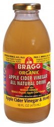 16 oz. ORGANIC APPLE CIDER VINEGAR DRINK -- ACV & HONEY