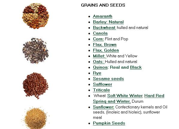 organic grains and seeds products canada organic grains