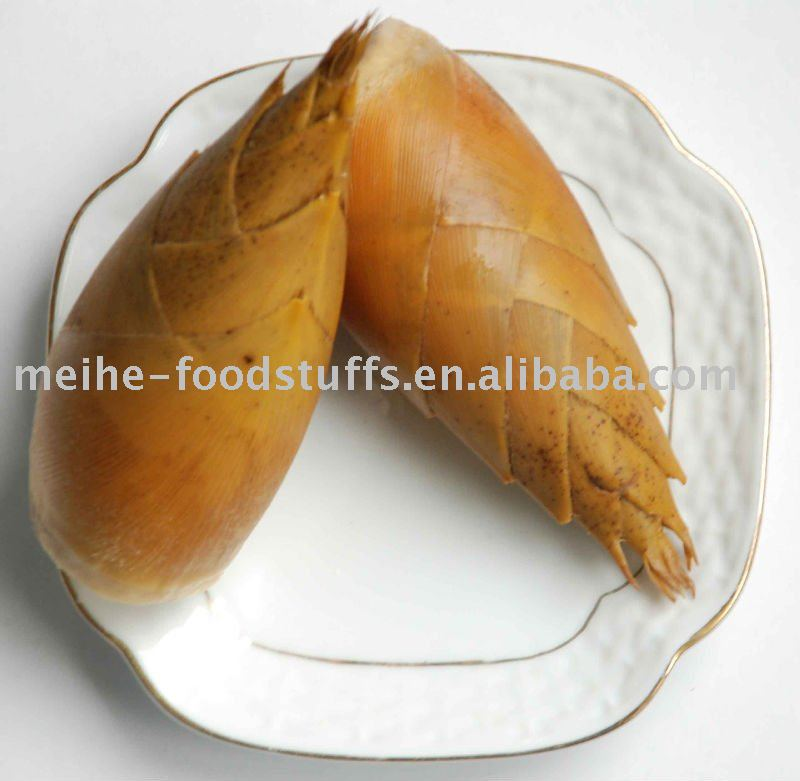 Bamboo shoot with shell