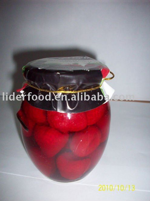 strawberry in glass jars