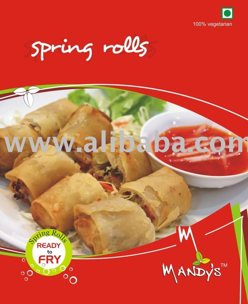 how to prepare frozen spring rolls