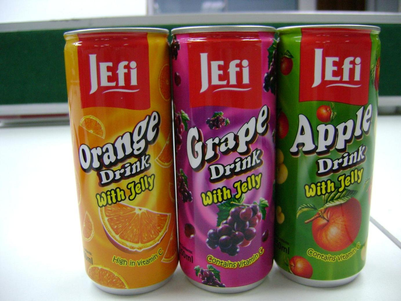 Jefi fruit drinks with jelly