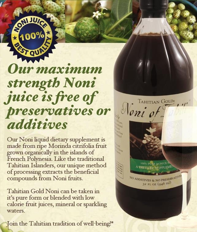 Tahitian Gold Noni Juice 100% Pure