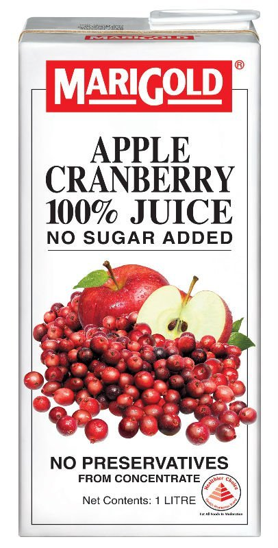 MARIGOLD APPLE CRANBERRY 100% Juice No Sugar Added