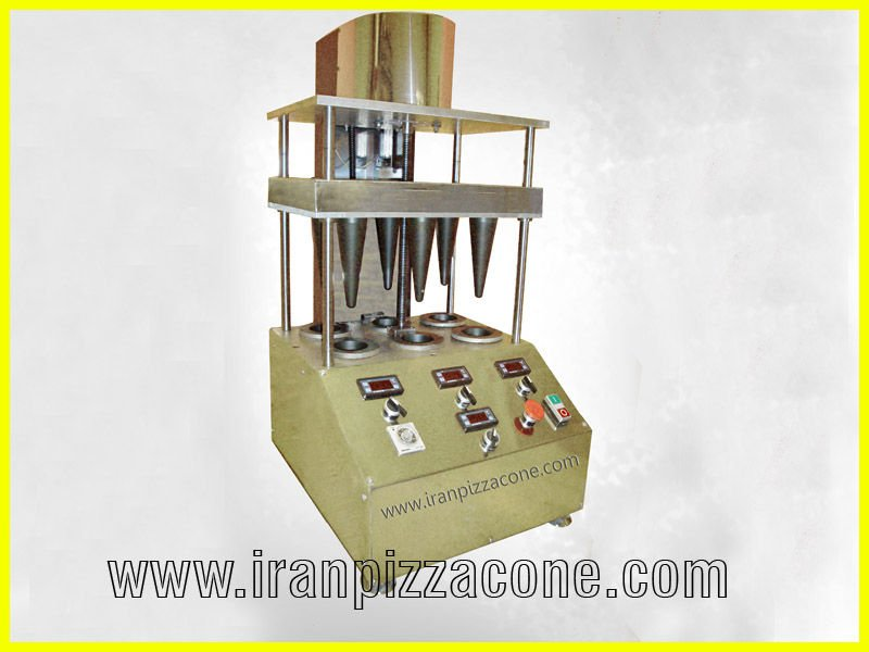 Pizza cone moulder machine