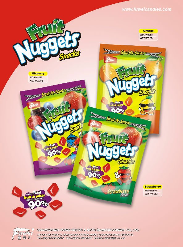 28g fruit nuggets pectin gummy candy