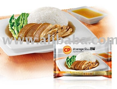 Frozen Ready to Eat Food SOYA PORK WITH RICE