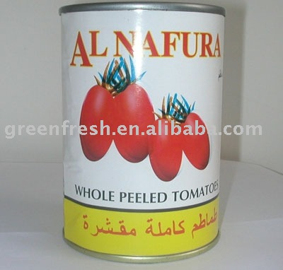 Canned Peeled Tomato (in brine, in tomato sauce)