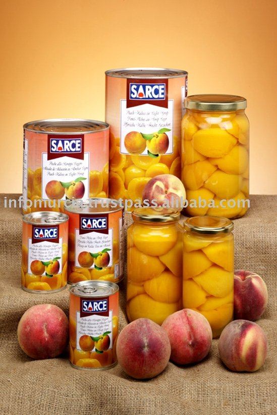 Canned Peach Halves In Syrup
