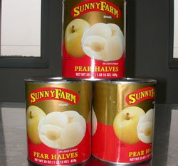 pear canned in light syrup