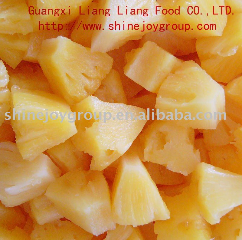 FDA,HACCP,ISO certificate canned yellow pineapple chunks in syrup 6/A10