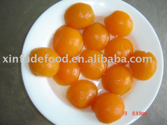 preference grade canned apricots in light syrup 410g*24tins