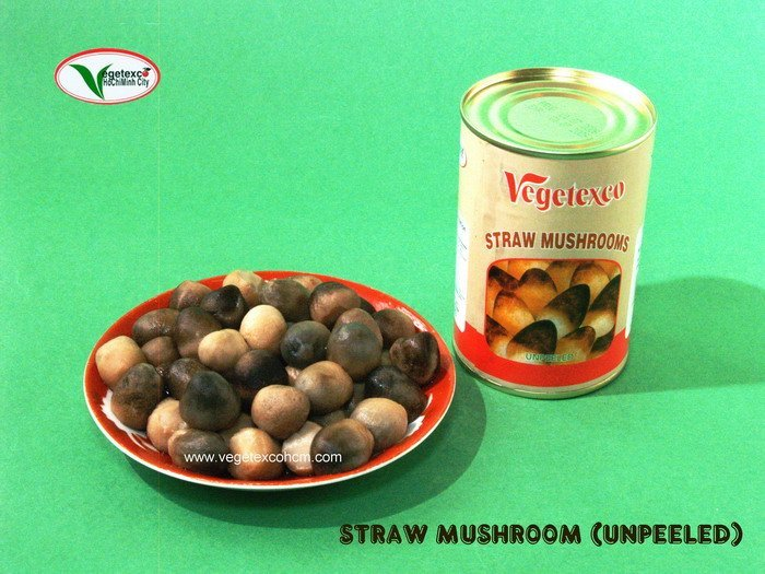 CANNED UNPEELED STRAW MUSHROOM