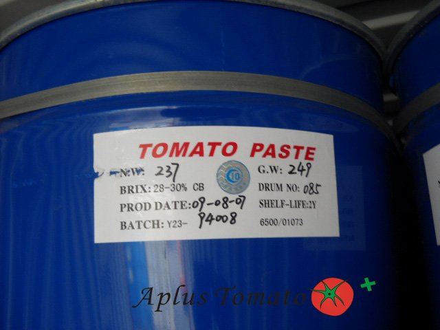 Drum/steel Iron drum tomato paste, Brix28/30% CB/HB, aseptic bag packing
