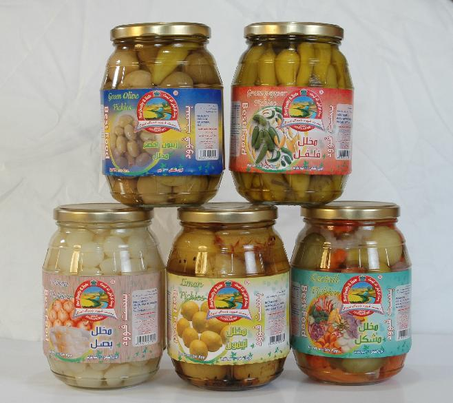 Pickles and pickled olives