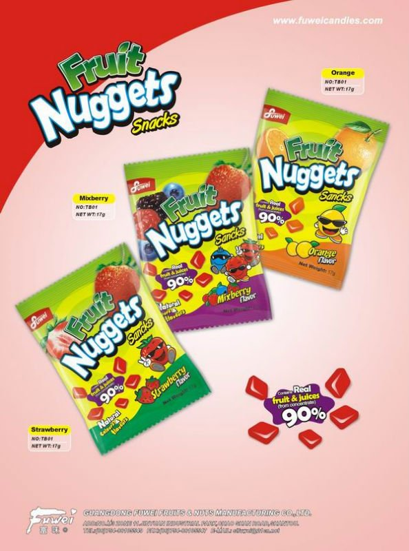 17g fruit nuggets pectin gummy candy
