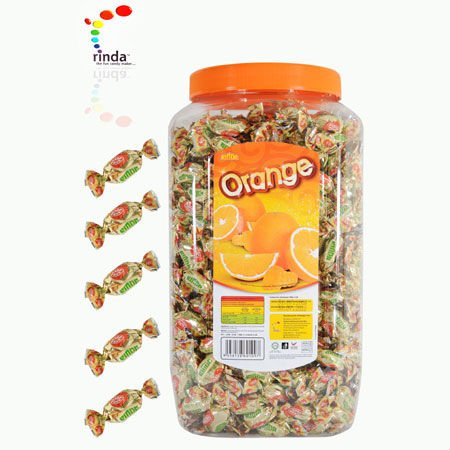 Orange Candy Jar