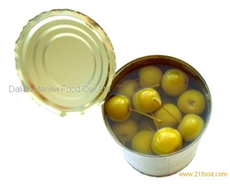 canned cherry apple with stem or without stems 425ml